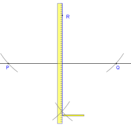 Geometry construction with compass and straightedge or ruler or ruler or ruler